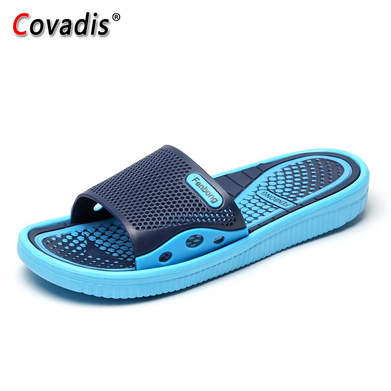 Summer Men Shoes Unisex Summer Hollow Slippers Outdoor Breathable Casual Couple Beach Sandals Flip Flops Shoes Beach Slippers