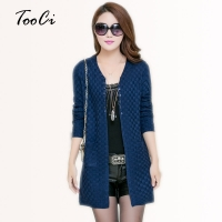 Women Spring  Cardigan With Pockets  Clothing Soft and Comfortable Coat Knitted V-Neck Long Cardigan Female Sweater Jacket