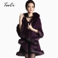 Women Faux Fur Coat Long Purple Cardigan Sweater Cape Shawl Spring Knitted Sweater Spring Capes And Poncho