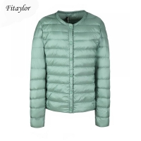 Fitaylor New winter Women Ultra Light White Duck Down Jacket Short Coat Slim Casual Down Coats Female Plus Size S-3xl Warm Parka