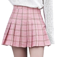 XS-3XL Harajuku 2019 Women Fashion Summer high waist pleated skirt Wind Cosplay plaid skirt kawaii Female Skirts