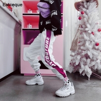 New 2020 Fashion Female Hip Hop Pants High Waist Loose Harem Pants Women Slim Pants Hip Hop Casual Trouser