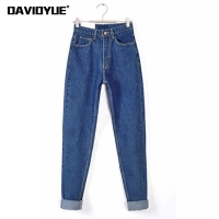 Vintage high waist jeans woman 2019 skinny black blue mom boyfriend jeans for women denim pants female trousers streetwear