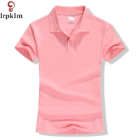 New 2020 Summer Brand Solid Polo Women Shirt Slim Short Sleeve camisa polo shirt polo femme Women Casual Shirts Clothing YY417