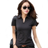 Summer Polo Shirt Women 2017 New Short Sleeve Solid Slim Polos Mujer Shirts Tops Fashion womens Polo shirts Femme 5 Colors