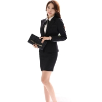 Office Uniform Designs Women Skirt Suit 2019 Costumes for Womens Business Suits Skirts with Blazer Black Gray Plus size 4XL 5XL