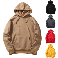 Laamei EU Size Fashion Colorful Hoodies Men's Thicken Clothes Winter Sweatshirts Men Hip Hop Streetwear Solid Fleece Man Hoody