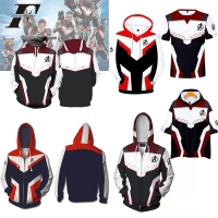 Marvel Avengers Endgame Quantum Realm Cosplay Costume 3D Hoodies Men women Hooded Avengers Zipper End Game Sweatshirt Jacket
