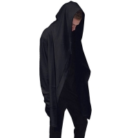 Men Hooded Sweatshirts With Black Gown Hip Hop Mantle Hoodies Fashion Jacket long Sleeves Cloak Man's Coats Outwear