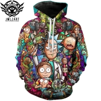 Camiseta De Rick and Morty Hoodies By jml2 Art 3D Unisex Sweatshirt Men Brand Hoodie Casual Tracksuit Pullover Anime Hoodie