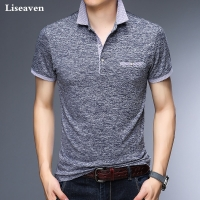 Liseaven Men Polos Business Office Polo Shirt Brand Mens Polo Shirts Men Clothing Solid Casual Cotton Breathable Poloshirt
