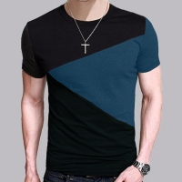 6 Designs Mens T Shirt Slim Fit Crew Neck T-shirt Men Short Sleeve Shirt Casual tshirt Tee Tops Short Shirt Size M-5XL TX116-R