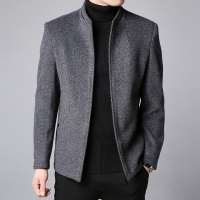 2019 Winter New Fashion Brand Coat Men Slim Fit Wool Peacoat Warm Jackets Wool Blends Overcoat Designer Casual Mens Clothes