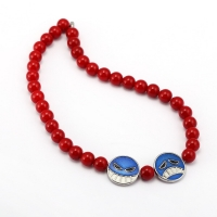 Ace 50cm Red Beads Necklace Choker Anime ONE PIECE Pendant Pop Culture Cosplay Jewelry Accessories