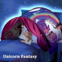 Fashion Printing Kids Dream Tents Baby Pop Up Bed Tent Fantasy Cartoon Snowy Foldable Playhouse Comforting Sleeping mosquito net