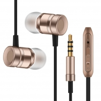 Professional Earphone Metal Heavy Bass Music Earpiece for Alcatel One Touch Pop C7 7040 7041 7041D fone de ouvido