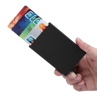 Stainles Automatic Pop Up Credit Card Holder Cover High Quality Business Aluminum Card Wallet Travel Cash Clip Holder Cardholder