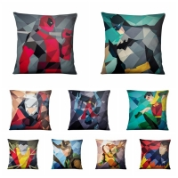 Almofadas Avengers Alliance Super Hero Cushion Decorative Pillow Abstract Geometry American Pop Marvel Printed Pillowcase 45*45