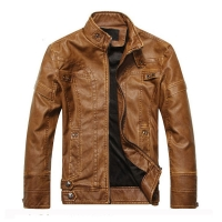 New arrive brand motorcycle leather jacket men, men's leather jacket jaqueta de couro masculina,mens leather jackets coats