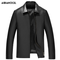 2019 Spring Autumn Men's Genuine Leather Jackets Brand Real Sheepskin Coat Jaqueta De Couro Black Male Genuine Leather Jacket