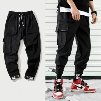 2020 New Fashion Cargo Pants Men Street Style Cotton Jogger Pants Men Casual Slim Sweatpants Men