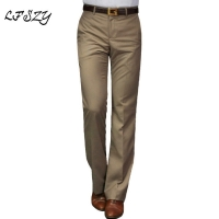 2019 New flared pants Male Summer Straight Suit pants British leisure Free hot feet trousers Formal pants For Men Size 28-37
