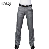 2018 New Men's Flared Trousers Formal Pants Bell Bottom Pant Dance White Suit Pants Size 28-30 31 32 33 34 35 36 37
