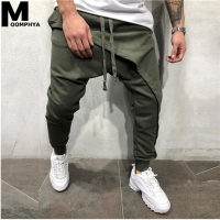 Moomphya 2019 New Streetwear hip hop men joggers pants Multi cross layer Long men's pants Skinny harem pants men trousers
