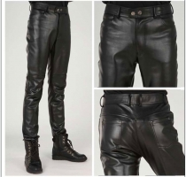 Plus Size Slim Male Leather Pants Male Trousers Tight Leather Pants Male Motorcycle Pants Pantalon Homme Pants Men Trousers 2019