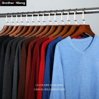 14-Color 2020 Autumn New Men Knitted Pullover Cashmere Sweater Casual Business V-Collar Thin Slim fit Sweaters Brand Clothes