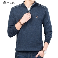 DIMUSI Autumn Winter Men's Sweater Men's Turtleneck Solid Color Casual Sweater Men's Slim Fit Brand Knitted Pullovers Clothing