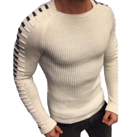 Laamei Autumn Winter Sweater Men 2020 New Arrival Casual Pullover Men Long Sleeve O-Neck Patchwork Knitted Solid Men Sweaters