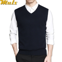Mens vest sweaters casual style wool knitted business men sleeveless vest blusas 4XL Muls brand Brown Gray Black Navy MS16035