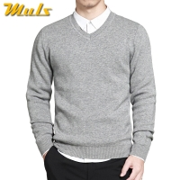 2017 Spring mens sweater pullovers Simple style cotton knitted V neck sweater jumpers Thin male knitwear Blue Red Black M-4XL