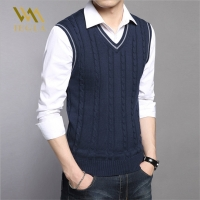 Mens Sweaters Autumn Winter Jacket Men Warm Pullovers Sleeveless O Neck Knitted Vest Femme Elegant Casual Sweater Vests