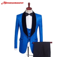 2020 Printed Smart Casual Suits Tuxedos 2 Color Groomsman Suit Custom Made Man Suit 3 PSC Wedding clothes Tailor    Blazer