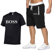 Hot Sale Men's Sets T Shirts+Shorts Summer  Two Pieces Sets Casual Tracksuit Male 2019 Casual Tshirt Gyms Fitness Shorts men