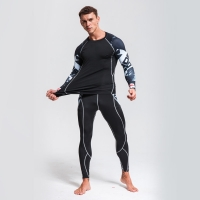 Men's Sports Suit Compression Clothing Fitness Training kit MMA rashgard male Quick drying shirt Sportswear Thermal Underwear