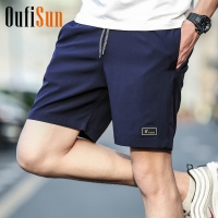 4XL Men Summer Casual Shorts Men Brand New Board Shorts 2018 WaterProof Solid Breathable Elastic Waist Fashion Casual Short Men