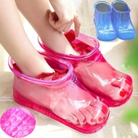 Women Foot Soak Bath Therapy Massage Shoes Relaxation Ankle Boots Acupoint Sole Portable Home Feet Care Hot water Zapatos Mujer