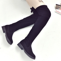 2020 women's boots autumn and winter new over the knee boots sleek minimalist comfort plus cotton flat Flock boots w34