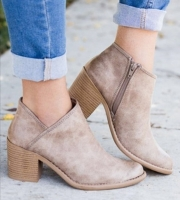 2020 Chic Summer Women Shoes Retro High Heel Ankle Boots Female Block Mid Heels Casual Botas Mujer Booties Feminina Plus Size 43