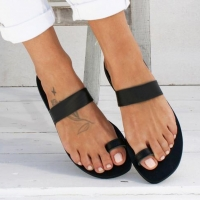 Sexy Rome Slippers For Women Summer Retro Beach Casual Shoes Lady Solid Flat Heel Slipper Beach Slides Roman Leather Flip Flops
