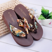 Women Shoes Surmmer Bohemia Floral Beach Sandals Wedge Platform Thongs Slippers Flip Flops For Women Platform Slippers M#3