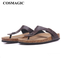 COSMAGIC New Beach Cork Flip Flops Slippers 2020 Casual Summer Women Mixed Color Print Unisex Slip on Slides Shoe