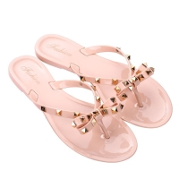Hot 2020 Fashion Woman Flip Flops Summer Shoes Cool Beach Rivets big bow flat sandals Brand jelly shoes sandals girls size 36-43