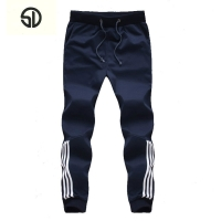 2019 New Fashion Tracksuit Bottoms Mens Casual Pants Cotton Sweatpants Mens Joggers Striped Pants Gyms Clothing Plus Size 5XL