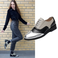 Women oxford shoes flat genuine leather casual vintage for loafers women lady shoes handmade flats 2020 female oxfords shoes