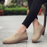 2020 Spring women flats sneakers shoes women slip on flat loafers suede leather shoes handmade boat shoes black oxfords