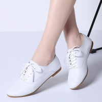 2019 Autumn Ballet Flats Shoes Genuine Leather Woman Loafers Ballerina Flat Chaussure Femme Ladies Oxford Shoes for Women 051